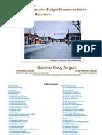 Burgum Revised Executive Recommendation Book
