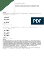 Suma y Resta de Números Expresados en Notación Científica