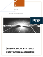 Historia de La Energía Solar