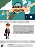 Managing the Internal Audit Activity