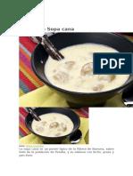 Receta de Sopa Cana