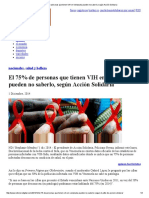 El 75% de Personas Que Tienen VIH en Venezuela Pueden No Saberlo, Según Acción Solidaria