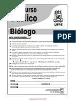 Concurso Prova biólogo UFPE