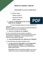 Cuestionario de Laboral i Parcial 2014