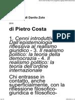 Costa, Il Realismo Di Danilo Zolo, In Jura Gentium