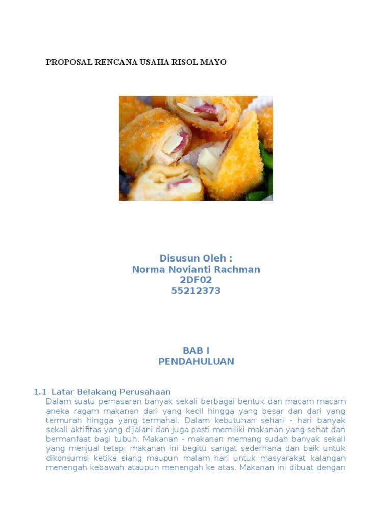 Contoh Proposal Usaha Makanan Risoles Pigura