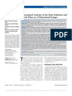 Microsurgical Anatomy of the Optic Radiation and Related Fibers in 3-Dimensional Images 2012