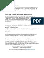 Derecho de Recision Modelo Clausula web