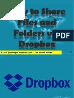 How to Share Files and Folders via Dropbox - Jayvee Cochingco - The Virtual Master