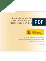 Especificacion Funcional Del Protocolo de Sustitucion de Certificados en Soporte Papel SCSPv3