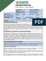 Sílabo Trasferencia de Masa I ESPE ING PETROQUIMICA