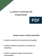 Volume II Contrato de Empreitada