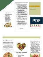 malnutrition brochure