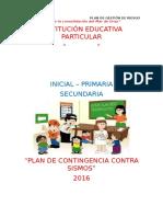 Plan de Contingencia Contra Sismos 2016