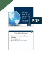 Ispe June 2014 Risk Based Cq Presentation