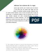 Cómo Combinar Los Colores de Tu Ropa