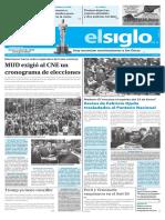 Edición Impresa Elsiglo 24-01-2017