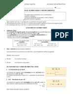 Ecuaciones de Segundo Grado y Funcion Cuadratica