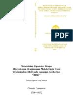 Menentukan Hiposenter Gempa Mikro Dengan Menggunakan Metode Single Event Determination (SED)