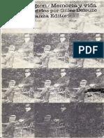 Bergson Henri Memoria y Vida.pdf567745349