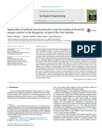 Application of Artificial Neural Networks to the Forecasting of Dissolved