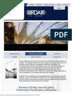 Energy Use and Lighting - Birdair, Inc