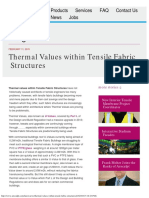 Thermal Values Within Tensile Fabric Structures
