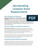 Understanding Unicondylar Knee Replacement