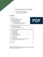 Axiomatización de La Probabilidad