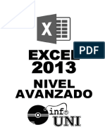 Manual de Excel Avanzado 2013