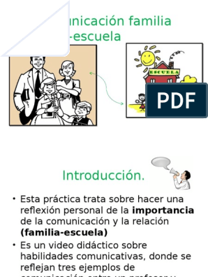 La comunicacion entre familia y escuela
