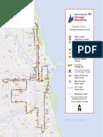 2016 Bank of America Chicago Marathon Course Map