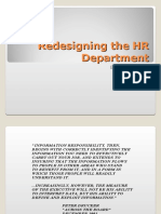Redesigning the Hr Department