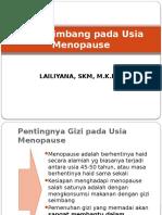 Gizi Seimbang Pada Usia Menopause