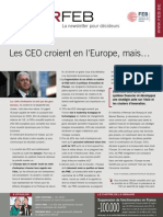 Les CEO croient en l'Europe, mais…, Infor FEB, 1er juillet 2010, n° 24