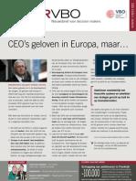 CEO's geloven in Europa, maar…, Infor VBO 24, 1 juli 2010