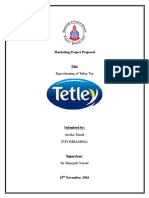 Praposal of Tetley Tea