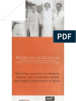 Nacimiento del Museo de las Escuelas. Primer folleto