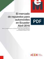 Mercado de Repuestos Para Autos-ECUADOR