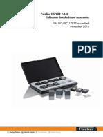 TDS X-RAY Calibration Standards 952-025 EnBIG