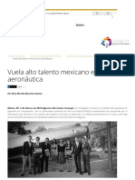 Vuela Alto Talento Mexicano en Aeronáutica
