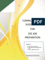 Communication Suggestion for EEE Job Preparation