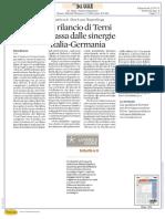 Il Rilancio Di Terni Passa Dalle Sinergie Italia Germania Sole 24 Ore 21 Gennaio 2017