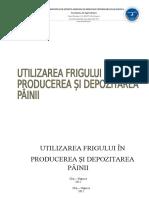 Utilizarea Frigului in Producerea Si Depozitarea Painii