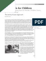 2013 Jeremy Krauss Approach for Special Needs Children Based on the Feldenkrais Method