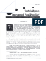 Tax Subsidy as an Instrument of Fiscal Discipline