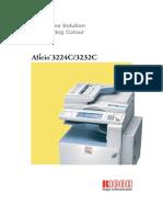 Ricoh Aficio 3224c Copier Brochure