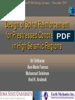 Design of Spiral Reinforcement
