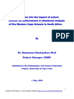 A Situational Analysis of five schools in the Western Cape