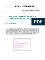 Literatura - Aula 24 - Modernismo no Brasil - 2ª fase (poesia)